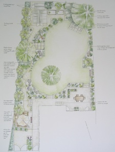 Wymondley Road, Hitchin, back garden design.